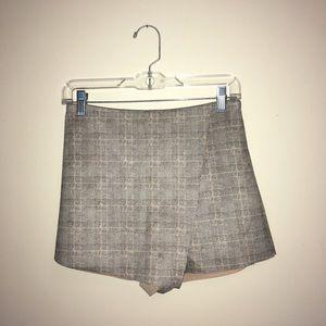 F21 Skort Tweed Inspired Plaid Shorts